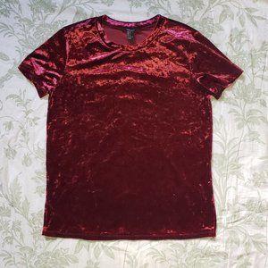 Forever 21 Crushed Velvet T-shirt